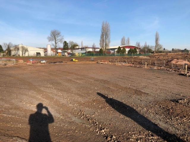 Marked playground area